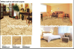 Métier à tisser Wilton large Rouleau de tapis en laine Jacquard Hôtel