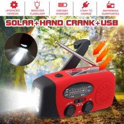 비상사태 태양 불안정한 다이너모 Self-Powered Am/FM/Wb 라디오 Sos LED 플래쉬 등 전화 충전기 생존 장비