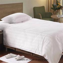 Hôtel de luxe oreiller de satin Stripe Shams Draps de lit Housse de couette