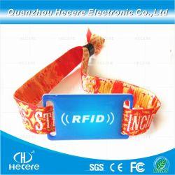La RFID MIFARE jetables Classic 1K Festival Festival de bracelet tissé pour des événements