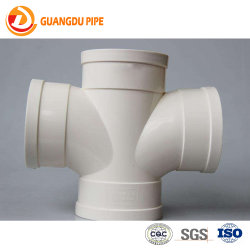 Fabrication de produits de gros de drainage sanitaire Raccords PVC croix à quatre voies