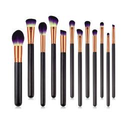 12ПК макияж набор щеток производителей высокое качество природного порошок макияж щетки Private Label средства макияжа