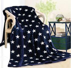 최신 판매 온난한 연약한 별 패턴 Flannel 담요