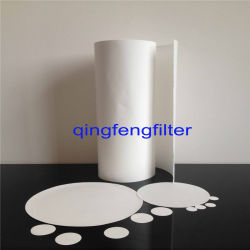 0.1Um /0,45 UM/0,22 um Roll & Disco PVDF hidrófobo de filtración de aire Filtro de membrana para