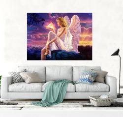De goedkope het Schilderen van de Diamant van de Engel van het Canvas Eco 5D Volledige Boor van Uitrustingen