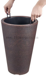 Tall rodada Flor (KD9952 Pot-DK9954)