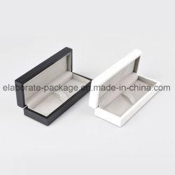 Kundenspezifische Halsketten-Armband-Ring-Uhr-Schmucksache-Verpackungs-Kasten-Samt-Einlagesahniger Leatherette