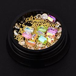 De Juwelen van de Decoratie van de Kunst van de spijker nagelen 3D Gemengde Bergkristallen van de Kristallen van Strass van Ontwerpen en Parels van het Staal voor de Toebehoren van de Spijker (nr-35)