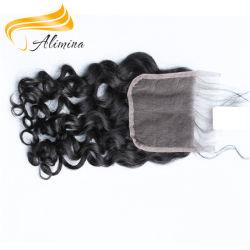 Les cheveux bouclés Remy Remy Lace Front pièce de fermeture