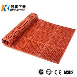 En gros le tapis de sol en caoutchouc anti-patinage en couleur rouge