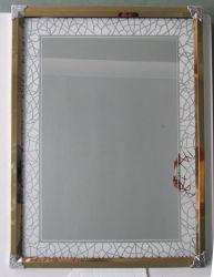 황금 스테인리스 강철 프레임 은 가정 장식 벽 가구 미러