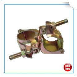 Andamio de acero prensado de montaje del tubo fijo en ángulo recto y gire el acoplador de andamios