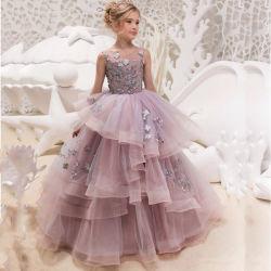 Adorável Alta qualidade para casamentos ou contratante Flower Girl Dress