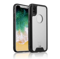 2018 베스트셀러 iPhone x, iPhone x를 위한 Aryclic TPU PC 상자를 위한 투명한 TPU PC 상자를 반대로 긁으십시오