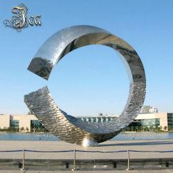 Grande scultura astratta esterna dell'acciaio inossidabile per il giardino
