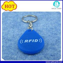 125 kHz/13,56 MHz RFID-Silikon-Schlüsselanhänger/Schlüsselanhänger