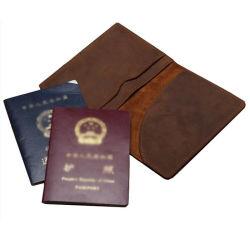 2018 Novo Passaporte de couro Homem Wallet para viagens