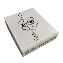 Boîte en carton ondulé blanc brillant Paquet d'expédition de plastification avec l'impression à l'intérieur xxxxxxx