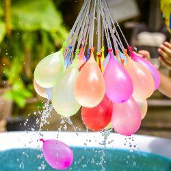 Venda por grosso 111PCS Cacho Auto coloridos de látex de estanqueidade de balões de água Verão por parte