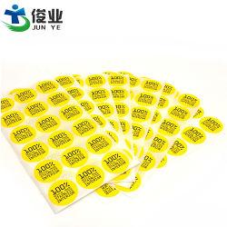 Custom imprimé le logo autocollant bouteille Flacon de papier couché Impression des étiquettes auto-adhésif