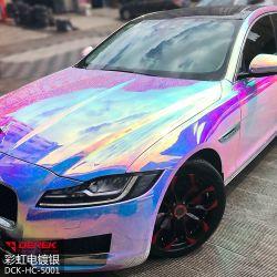 كروم جديد Vinil Rainbow Mirror Roll ملصق كروم فينيل السيارة فينيل غلاف الغطاء