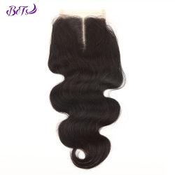 4*4 кружевной закрытие органа кривой высокого качества и бразильский волос HD кружева закрытия