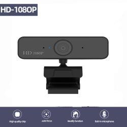 1080P HD Webcam PC Mini PC USB Webcam Cámara Micrófono integrado y flexible, Clip giratorio para portátiles, equipos de escritorio y Web Cam de juegos