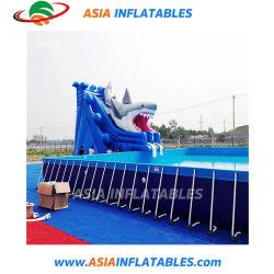 Lona de PVC da estrutura metálica de aço infláveis piscina de Verão