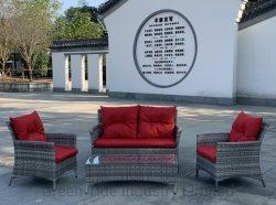 Nouveau Hot Sale Patio Jardin meubles en rotin canapé en osier Set 4PCS