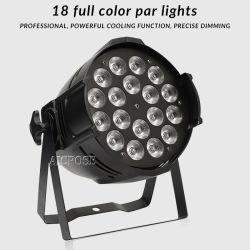 단계 점화를 위한 18X12W RGBW 4in1 LED 동위 빛