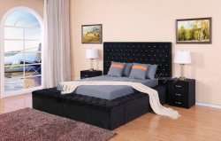 Storge cama cama para adultos Cama doble Cama moderno tapizado de muebles de dormitorio con sofá cama y cajones Muebles de dormitorio de cama plana cama de pared