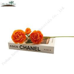 Goedkope zijde bloem Oranje Kleur Bruiloft decor kunstmatige Rose Heads