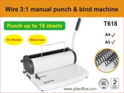 Fil d'acier de format A4 3 : 1 contraignant pour le livre de la machine Bind (T618)