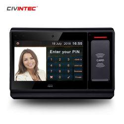Smart Smartphone NFC portátil com leitor de impressões digitais biométrico RFID Máquina de Apontamento de Bateria de Backup da câmara
