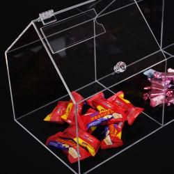 Caramelos de acrílico Vitrina alimentos secos Nueces el contenedor de almacenamiento