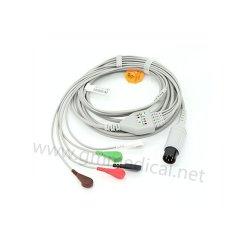 Compatible con Mindray , CSI ,Datascope Spacelab , pieza BCIOne,Cable de ECG con 5 latiguillos derivaciones de Monitor de Paciente, AHA, broche de presión.