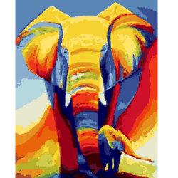 Groothandel de olifant olieverf verf op nummer Foto tekening Canvas Wall Pictures voor Living Room Home