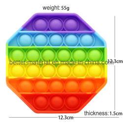 Push Toys Sensory Bubble Regenboog Silicone Circle Popit Square Crab Set Neon Fidgets Popper Boots Popfidget IT Toy Rainbow