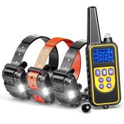 Os dispositivos de treino de cães choque elétrico automático da coleira Colar Pet rolha de casca de treinamento da coleira automático para cães barking
