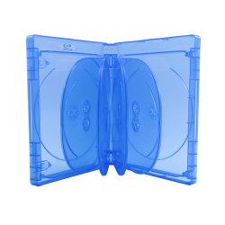 Custodia DVD Multi con custodia in plastica trasparente con logo