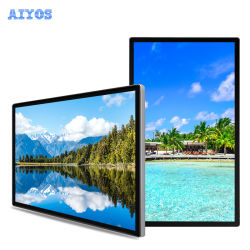 Wandmontage 32 43 55 Zoll LCD-Touchscreen Digital Signage-Werbung Display mit Android oder Windows