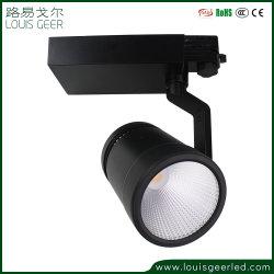 2020 LED de luz tenue mazorca comercial Vía 30W LED de luz giratoria de 2 hilos 1 Fase de la vía ferrocarril Spotlight, pista de luz LED ajustable