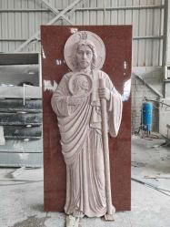 Китай гранита Tombstone с памятником Tombstone Иисуса в вертикальном положении