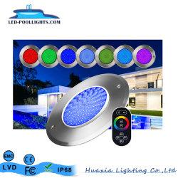 Privates des Modell-8mm Swimmingpool-Licht Stärke RGB-6W an der Wand befestigtes Unterwasser-LED für Priscina