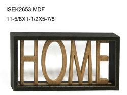 木製フレーム Vintage 壁サイン、 Cutout Home デコレーション、インテリア