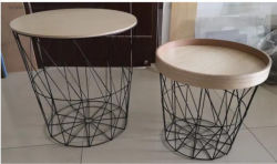 La decoración del hogar Venta caliente Alambre cestas de almacenamiento de diseño moderno