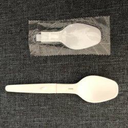 La cuillère en plastique compostable PLA pliable pour le lait avec la couleur blanche