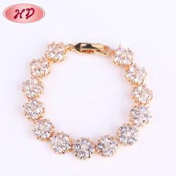Use jóias de casamento de cobre de cristal de qualidade Senhoras pulseiras de Ouro