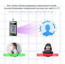 """7 """" de Terminal van de Meting van de Thermometer van het Voorhoofd van de Erkenning van het Gezicht voor het Intelligente Beheer van de Prikklok"""