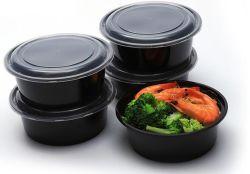Один из компонентов круглая форма пользовательских бисфенол-А в микроволновой печи для перехода PP контейнеры для еды Одноразовые пластиковые ланч-бокс с крышками